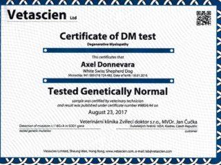 Diplomy, šampionáty, zdravotní výsledky – AXEL Donnevara
