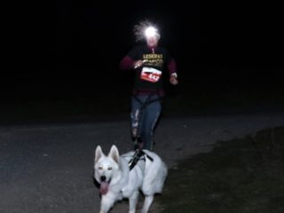 Night canicross race Leskros – Krkavec